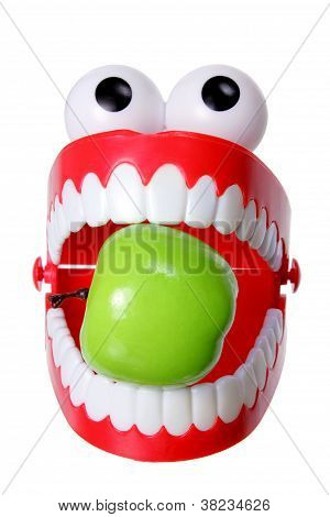 Chattering Teeth Toy With Apple