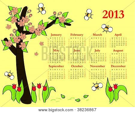 2013 Colorful calendar