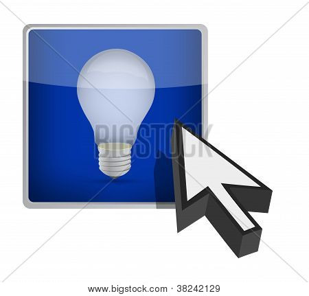 Idea Button Illustration Design