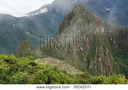 Aerial View Over Machu Picchu
