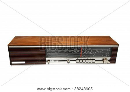 Ancient Radio, Isolated On White Background