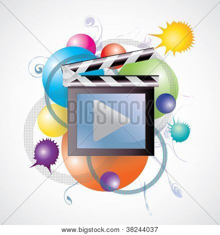 Movie Media In Abstract Background