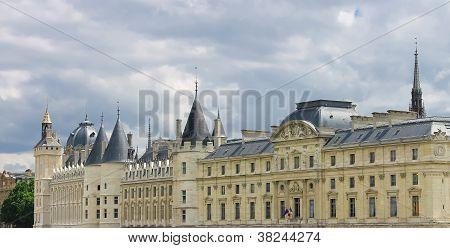Castle Conciergerie, The Former Royal Palace And Prison In Paris. France