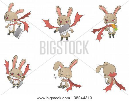 Assassin Bunny Icon Collection