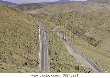 Road in Atlas mountains,Morocco