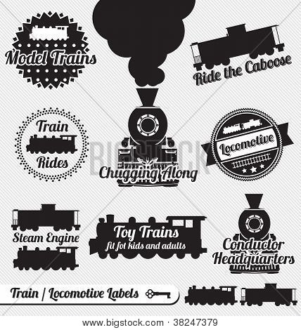 Vintage Train and Locomotive Labels