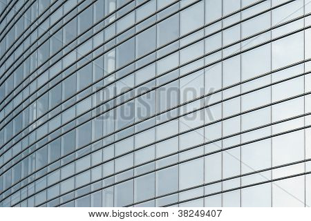 Exterior Of Glass Office Building