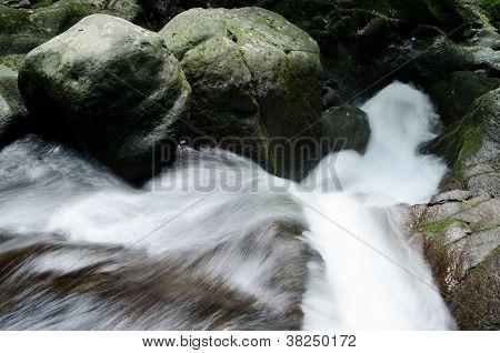 Torrent flowing down