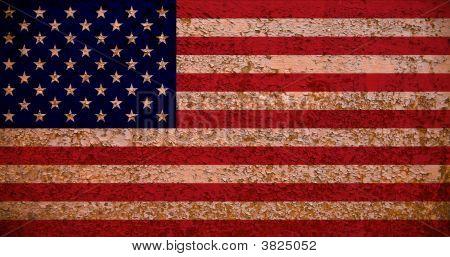 Rusty American Flag