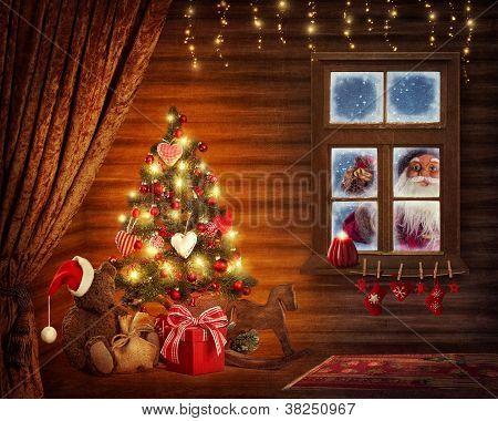 Room With Christmas Tree