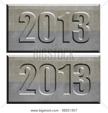 2013 Stone Tablet Convex And Concave