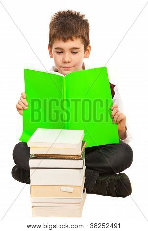 Student Boy Reading