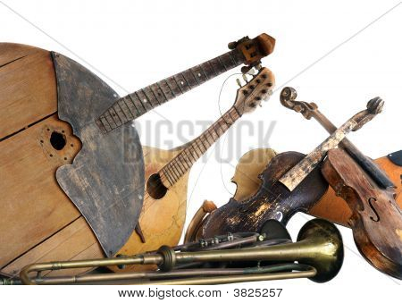 Old Broken Music Instruments