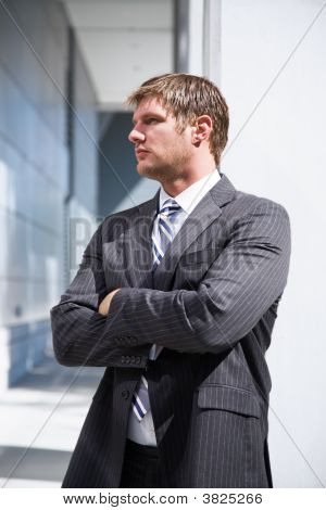 Thinking Caucasian Businessman