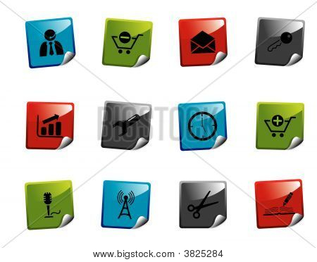 Web Icon Sticker Series