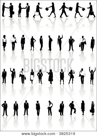 People Silhouettes And Shadow