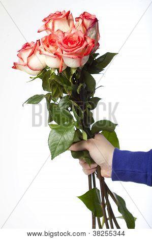 bouquet being held