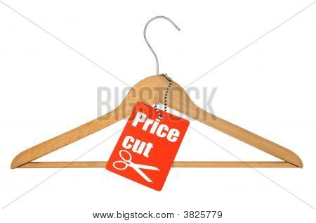 Coat Hanger And Price Cut Tag
