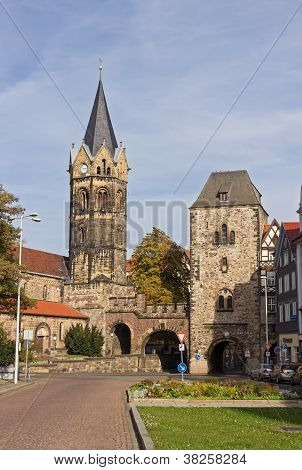 Church Of St Nicholas And Towngate, Eisenach, Germany