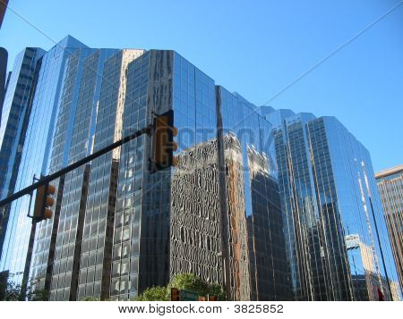 Mirrored City Building