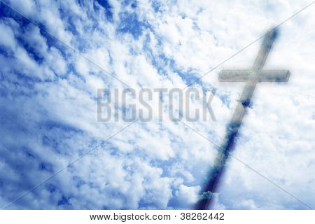 cross against the sky