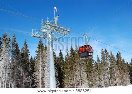 Cableway Cabin At Jasna Low Tatras Ski Resort, Slovakia