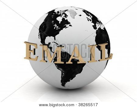 Email Abstraction Inscription Around Earth