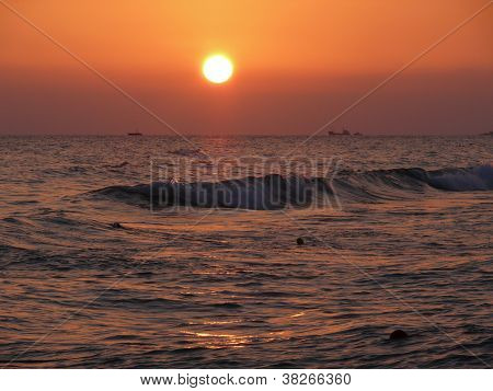 Sunset Above Mediterranean Sea, Turkey