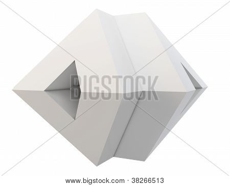 3D Pyramid Abstract Shape