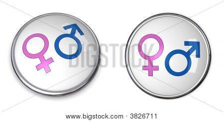 Button Male Female Gender Symbol