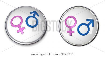Button Male Female Gender Symbol