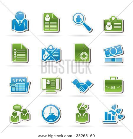 Employment and jobs icons
