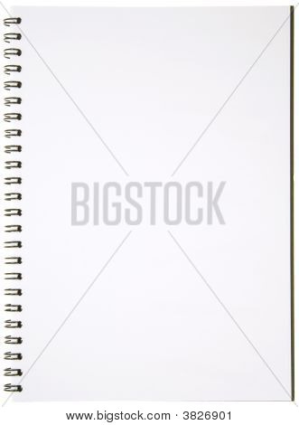 Blank Spiral Notepad