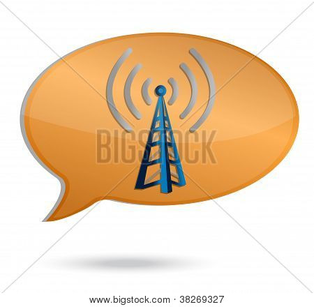 Wifi Bubble Tower Illustration Design