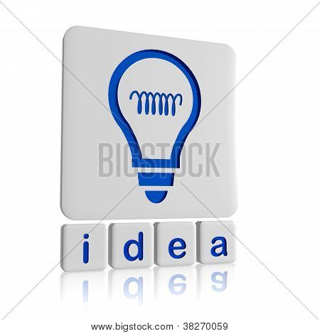Idea And Light Bulb Symbol In Tablets