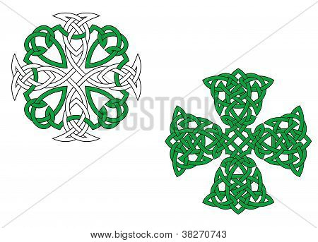 Green Celtic Crosses