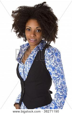 attraktive weibliche Afro American