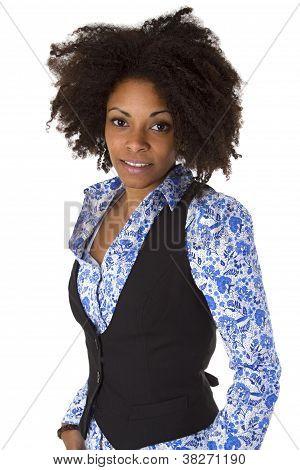 Atraente feminina Afro americana
