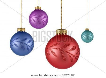Four Tree Christmas Ornaments