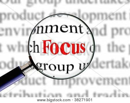Magnifying on word focus