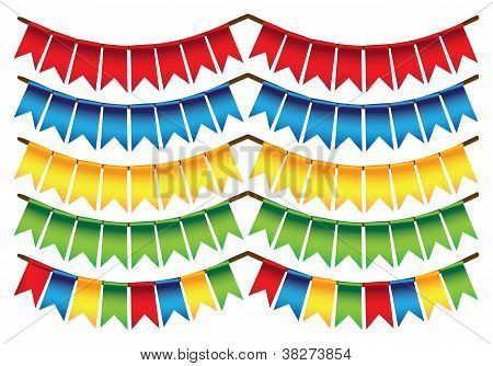 Small Triangle Colors Flags