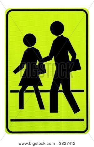 Road Sign. Pedestrians.