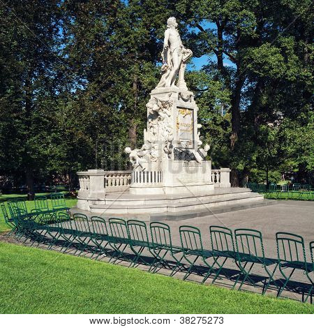 Mozart Statue in Vienna - Austria