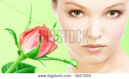 Rosto de mulher