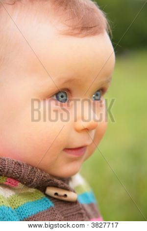 Closeup Portrait Of Baby