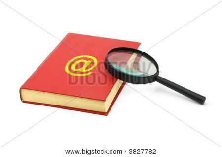 Magnifying Glass And Address Book