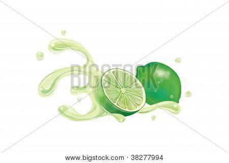 Lemon fresh with splash illustration