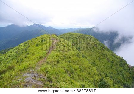 ridge of high mountain at china