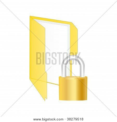 Protected Folder Icon. Vector Illustration