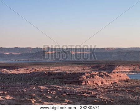 Mountain Range With Clear Sky In The Background